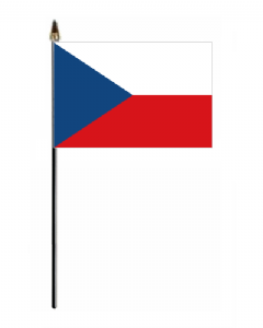 Czech Republic Country Hand Flag - Small.